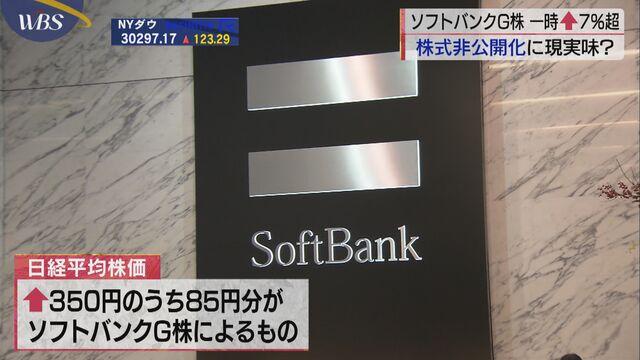 G 株価 ソフトバンク